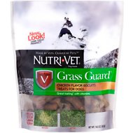 Nutri-Vet Grass Guard Wafers for Small & Medium Dogs Chicken Treats, 19.5-oz bag