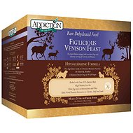 Addiction Grain-Free Fig'Licious Venison Feast Raw Dehydrated Dog Food, 8-lb box