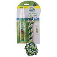 TropiClean Fresh Breath Liquid Floss & Triflossball, Small