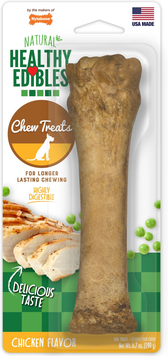 Nylabone Healthy Edibles Longer Lasting Chicken Flavor Dog