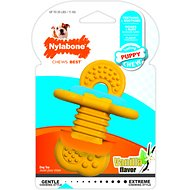Nylabone Puppy Chew Rubber Teether Dog Toy, Small, Yellow