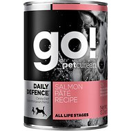 Go! Daily Defence Salmon Pate Recipe Canned Dog Food, 13.2-oz, case of 12