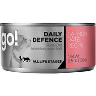 Go! Daily Defence Salmon Pate Recipe Canned Cat Food, 5.5-oz, case of 24
