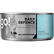 Go! Daily Defence Turkey Pate Recipe Canned Cat Food, 5.5-oz, case of 24