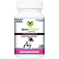 VetriScience Acetylator Everyday Health Dog & Cat Capsules, 120 count