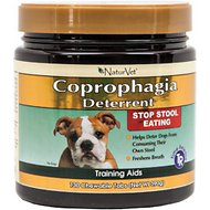 NaturVet Coprophagia Deterrent Dog Tablets, 130 count