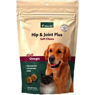 NaturVet Hip & Joint Plus Dog & Cat Soft Chews, 120-count