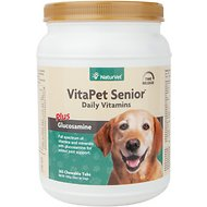NaturVet VitaPet Senior Care Vitamins & Minerals Dog Tablets, 365 count