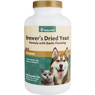 NaturVet Brewer's Yeast Formula Dog & Cat Tablets, 1,000 count