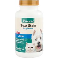 NaturVet Tear Stain Dog & Cat Supplement Tablets, 60-count
