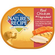 Nature's Recipe Chicken & Wild Salmon Recipe in Broth Wet Dog Food, 2.75-oz, case of 24