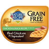 Nature's Recipe Grain-Free Chicken & Duck Recipe in Broth Wet Dog Food, 2.75-oz, case of 24