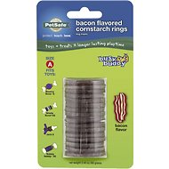 Busy Buddy Bacon Flavored Cornstarch Rings Dog Treats, Size A