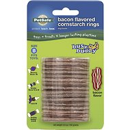 Busy Buddy Bacon Flavored Cornstarch Rings Dog Treats, Size B