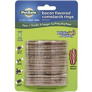 Busy Buddy Bacon Flavored Cornstarch Rings Dog Treats, Size C