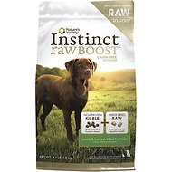 Nature's Variety Instinct Raw Boost Grain-Free Lamb & Salmon Meal Formula Dry Dog Food, 4.1-lb bag
