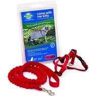PetSafe Come With Me Kitty Harness & Bungee Cat Leash, Red/Black, Medium