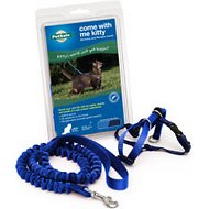 PetSafe Come With Me Kitty Harness & Bungee Cat Leash, Royal Blue/Navy, Large