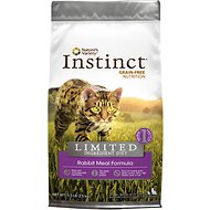 Nature's Variety Instinct Limited Ingredient Diet Rabbit Meal Formula Grain-Free Dry Cat Food, 5.5-lb bag