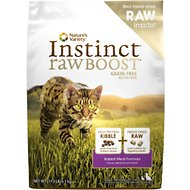 Nature's Variety Instinct Raw Boost Grain-Free Rabbit Meal Formula Dry Cat Food, 11.3-lb bag