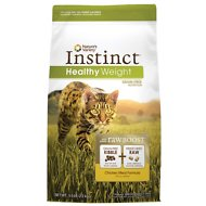 Nature's Variety Instinct Grain-Free Healthy Weight Chicken Meal Formula Dry Cat Food, 5-lb bag