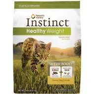 Nature's Variety Instinct Grain-Free Healthy Weight Chicken Meal Formula Dry Cat Food, 10.4-lb bag