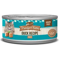 Merrick Purrfect Bistro Grain-Free Duck Pate Canned Cat Food, 5.5-oz, case of 24