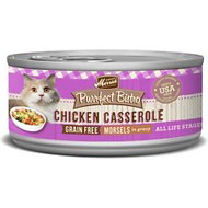 Merrick Purrfect Bistro Grain-Free Chicken Casserole Morsels in Gravy Canned Cat Food, 5.5-oz, case of 24
