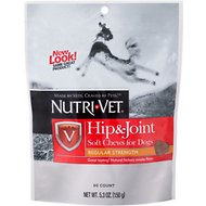 Nutri-Vet Hip & Joint Regular Strength Dog Soft Chews, 5.3-oz bag