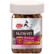 Nutri-Vet Pet-Ease Chicken Wafers for Dogs, 8-oz jar