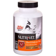 Nutri-Vet Shed Defense Max Dog Chewables, 60 count