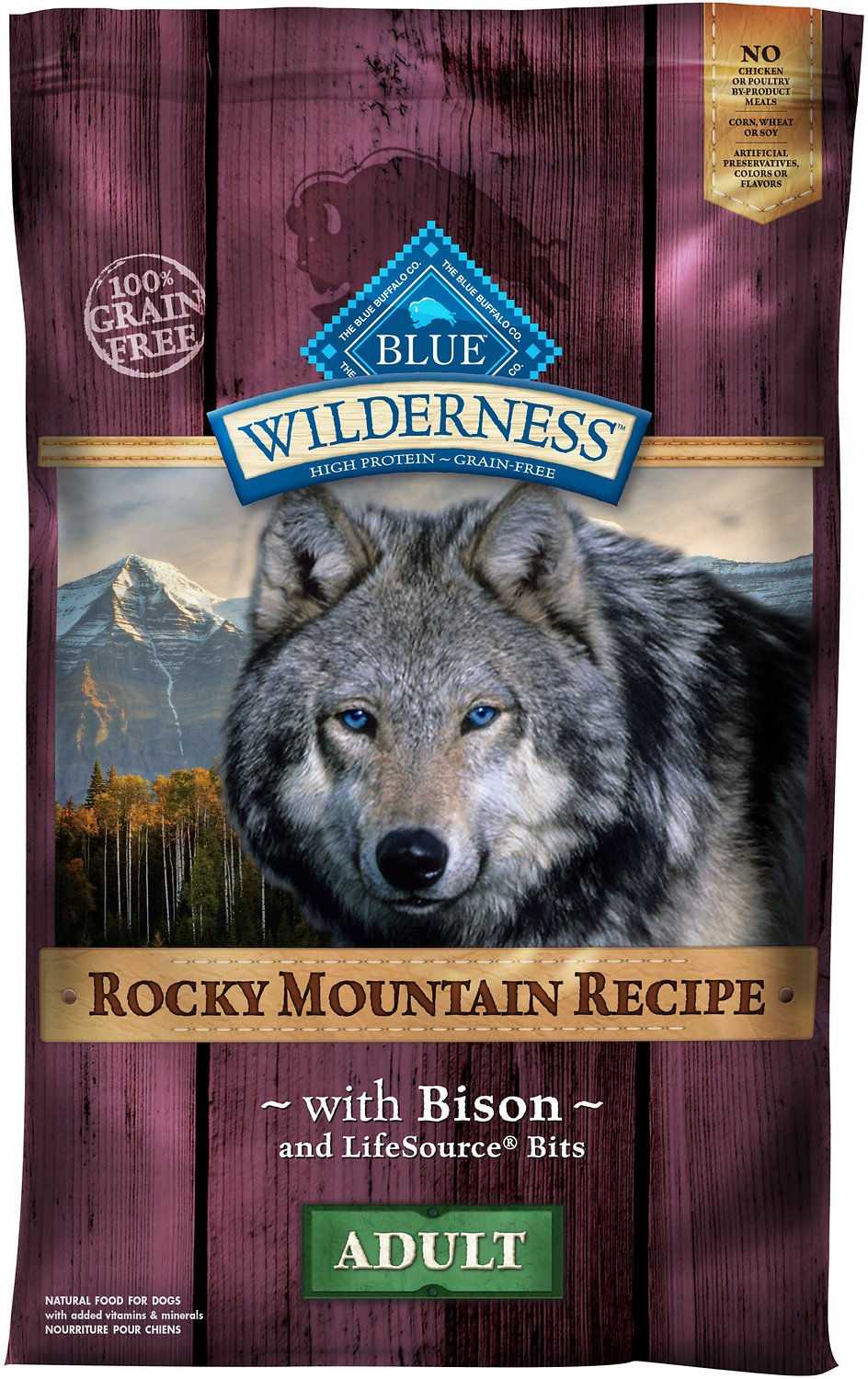 Blue Buffalo Wilderness Rocky Mountain Recipe With Bison