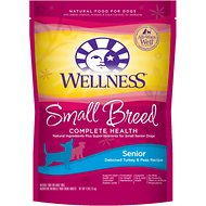 Wellness Small Breed Complete Health Senior Deboned Turkey & Peas Recipe Dry Dog Food, 4-lb bag