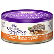 Wellness Signature Selects Shredded White Meat Chicken & Beef Entree in Sauce Grain-Free Canned Cat Food, 5.3-oz, case of 24