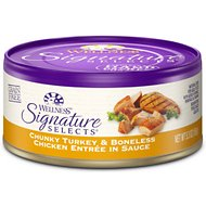 Wellness Signature Selects Chunky Turkey & Boneless Chicken Entree in Sauce Canned Cat Food 5.3-oz, case of 24