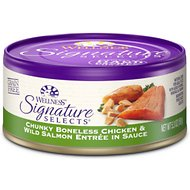 Wellness Signature Selects Chunky White Meat Chicken & Wild Salmon Entree in Sauce Grain-Free Canned Cat Food, 5.3-oz, case of 24