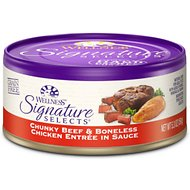 Wellness Signature Selects Chunky Beef & White Meat Chicken Entree in Sauce Canned Cat Food, 5.3-oz, case of 24