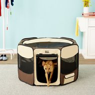 Pet Gear Travel Lite Soft-Sided Pet Pen with Removable Top, Sahara, Medium