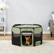 Pet Gear Travel Lite Soft-Sided Pet Pen with Removable Top, Sage, Medium