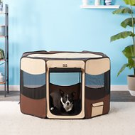 Pet Gear Travel Lite Soft-Sided Pet Pen with Removable Top, Sahara, Large