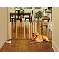 MyPet Wood Extra-Wide Swing Pet Gate for Dogs & Cats