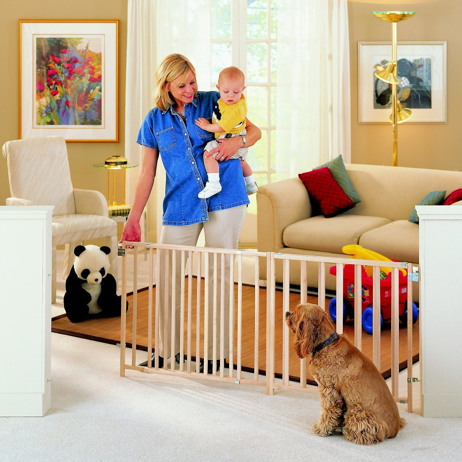 Mypet Wood Extra Wide Swing Pet Gate For Dogs Amp Cats