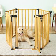 MyPet 3-in-1 Wood Pet Yard for Dogs & Cats