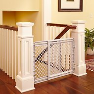 North States Plastic Walk-Thru Pet Gate for Dogs & Cats