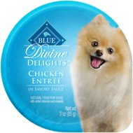 Blue Buffalo Divine Delights Chicken Entree in Savory Sauce Wet Dog Foods, 3-oz tray, case of 12