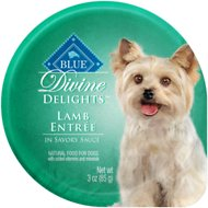 Blue Buffalo Divine Delights Lamb Entree in Savory Sauce Wet Dog Food, 3-oz tray, case of 12