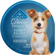 Blue Buffalo Divine Delights Turkey Entree in Savory Sauce Wet Dog Food, 3-oz tray, case of 12