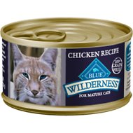 Blue Buffalo Wilderness Mature Chicken Recipe Grain-Free Canned Cat Food, 3-oz, case of 24