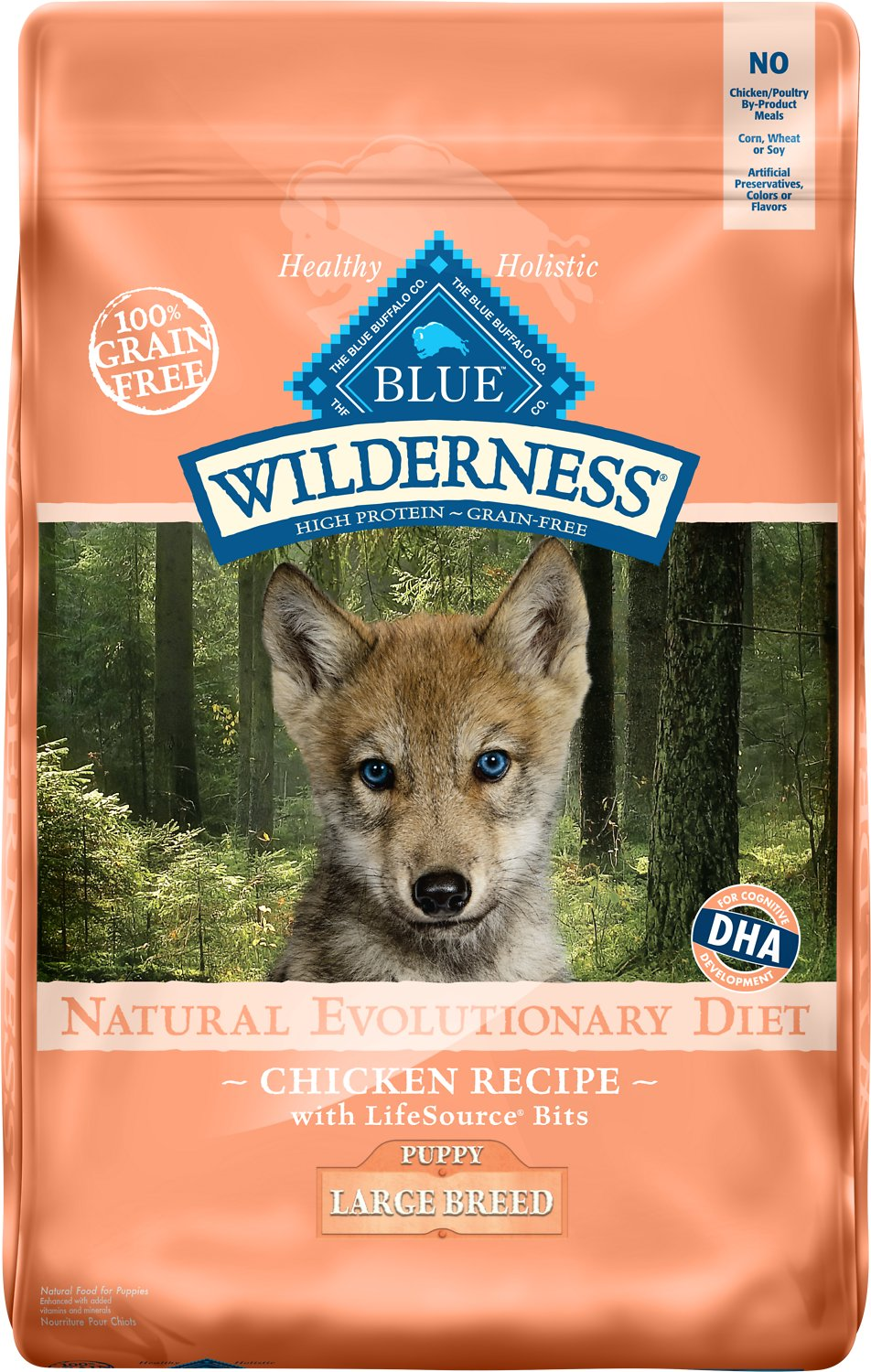 Blue Buffalo Wilderness Large Breed Puppy Chicken Recipe