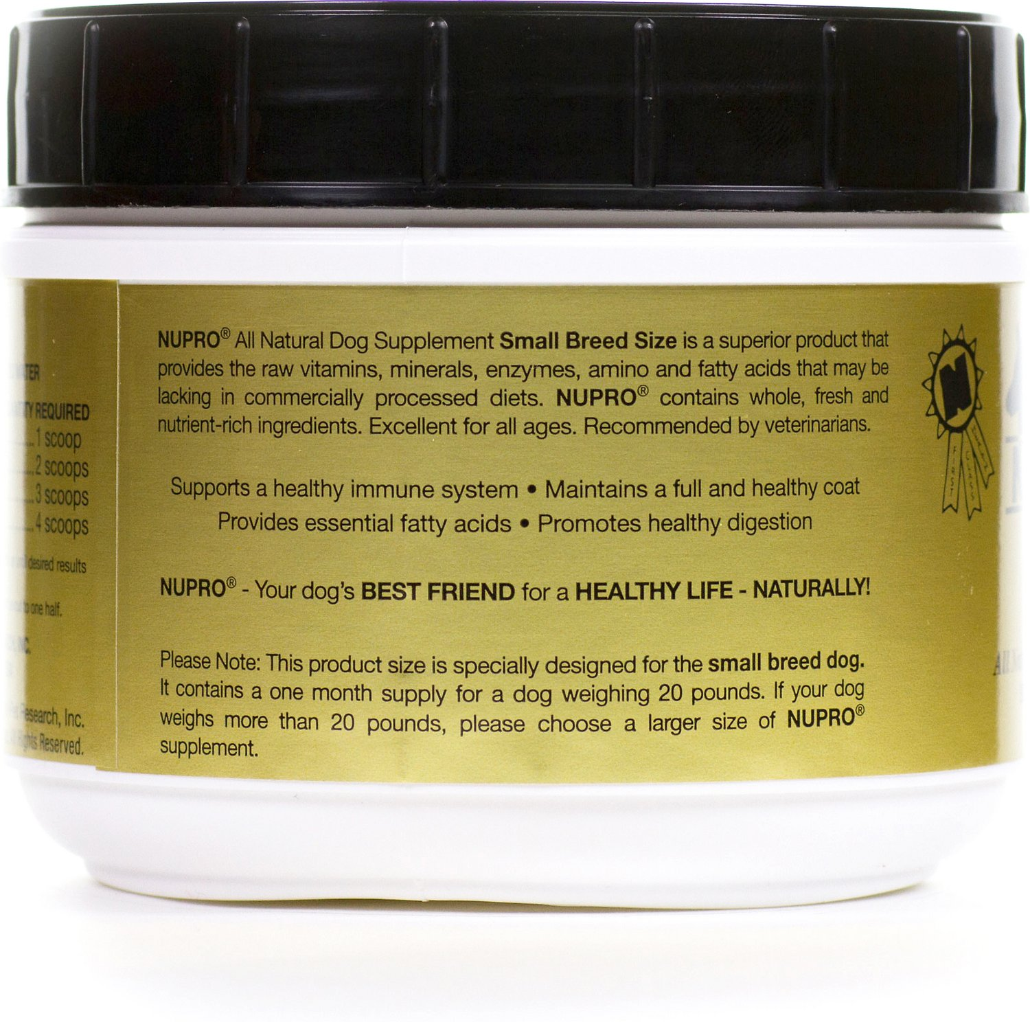 Nupro All Natural Small Breed Dog Supplement